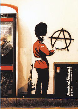 Banksy street art - Graffiti Gardist Anarchie Plakat