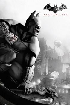 BATMAN ARKHAM - city cover Poster