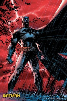 BATMAN COMIC - red rain Poster