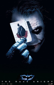 BATMAN THE DARK KNIGHT - joker card Poster