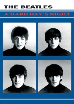Beatles - hard days night Poster