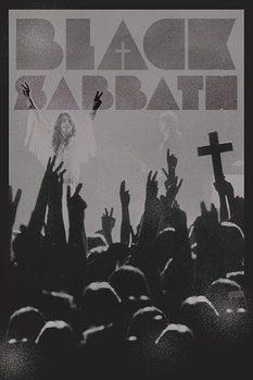 Black Sabath - cross Poster