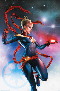 Captain Marvel - Galaxy Poster