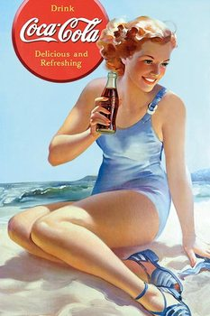 Coca Cola - Beach Plakat