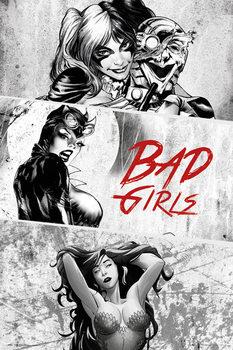 DC Comics - Badgirls (B&W) Plakat