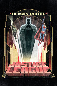 DC Comics - Batman Art Deco Plakat