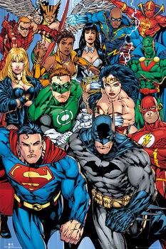 DC COMICS - collage Poster