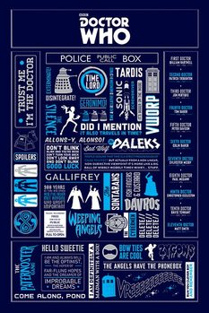 Doctor Who - Infographic Plakat