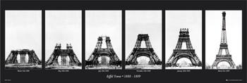 Eiffel tower - construction Poster