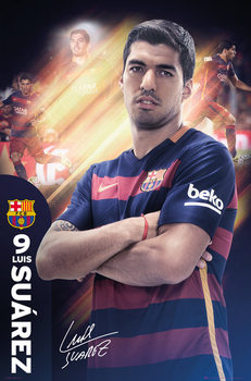 FC Barcelona - Suarez 15/16 Poster