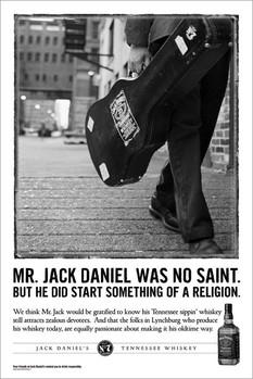 Jack Daniel's - no saint Poster