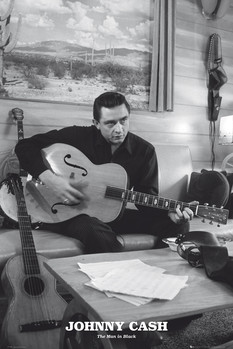 Johnny Cash - man in black Plakat