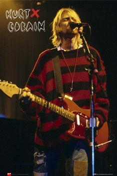 Kurt Cobain - singing Poster