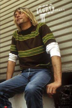 Kurt Cobain - sitting Poster