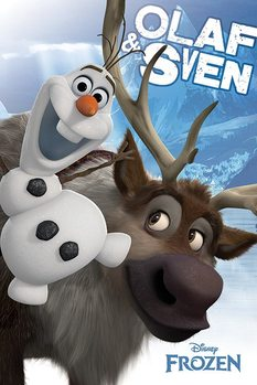 La reine des neiges - Olaf and Sven Poster