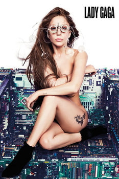 Lady Gaga - chair Plakat