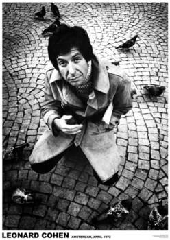 Leonard Cohen - Amsterdam 1972 Plakat