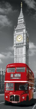 London red busS - big ben Poster