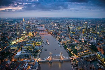 Londýn - Jason Hawkes Poster