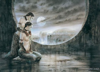 Luis Royo – moonlight Poster