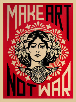 Make Art Not War Plakat