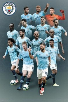 Manchester City - players 18-19 Poster