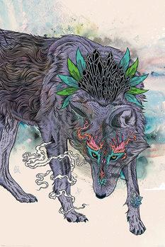 Mat Miller - Journeying Spirit - Wolf Poster