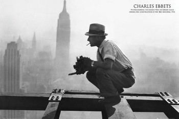 Men on girder - charles c.ebbets Poster