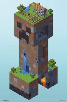 Minecraft - Creeper Village Poster