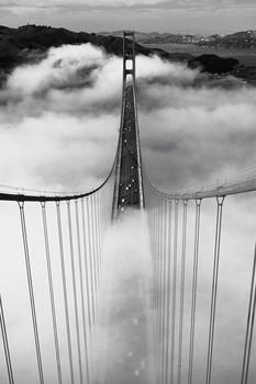 Misty morning - golden gate/San Francisco Poster