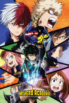 My Hero Academia - Characters Mosaic Poster