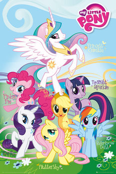 MY LITTLE PONY - names Plakat