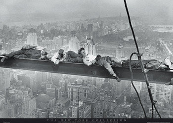 New York - asleep on girder Poster