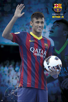 Neymar JR. - fc Barcelona 2013 Plakat