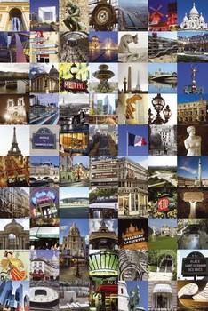 Paris - collage Poster