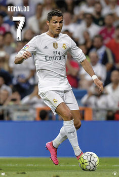 Real Madrid - Cristiano Ronaldo CR7 15/16 Plakat