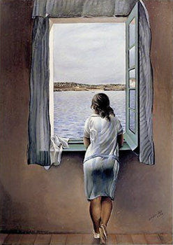 SALVADOR DALÍ - woman at the window, 1925 Poster