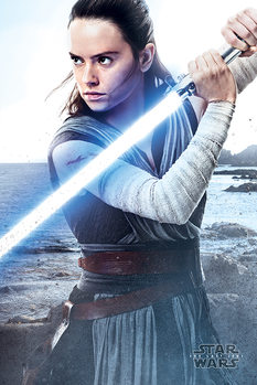 Star Wars The Last Jedi - Rey Engage Poster