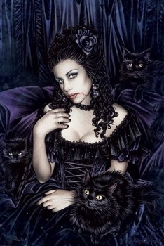 Victoria Frances - black cat Poster