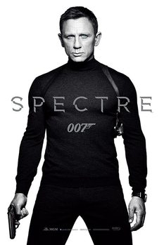 007 Spectre: A Fantom visszatér - Black and White Teaser Plakát