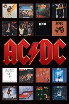 AC/DC - album covers Plakát
