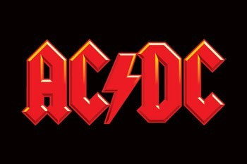 AC/DC - logo Plakát