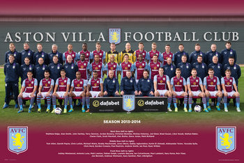 Aston Villa FC - Team Photo 13/14 Plakát