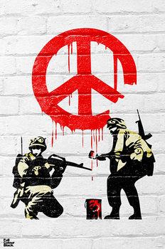 Banksy - Peace soldiers Plakát