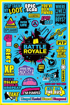 Battle Royale - Infographic Plakát