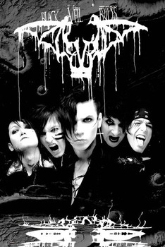 Black veil brides - darkest plakát