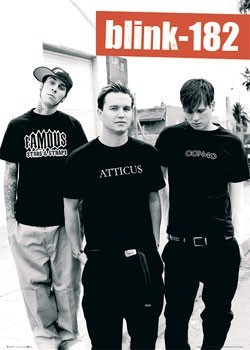 Blink 182 (B&W) Plakát
