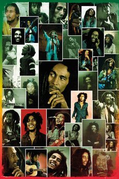 Bob Marley - Photo Collage Plakát