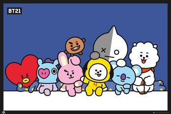 BT21 - Group Plakát