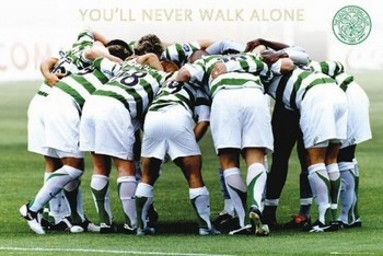 Celtic - huddle Plakát